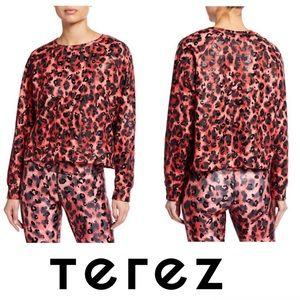 New! TEREZ Cheetah Print Foil Crewneck T-Shirt